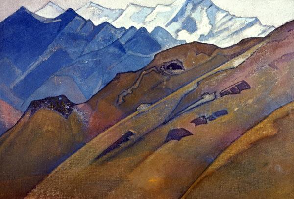 Н.К. Рерих. Пещера Миларепы. 1931